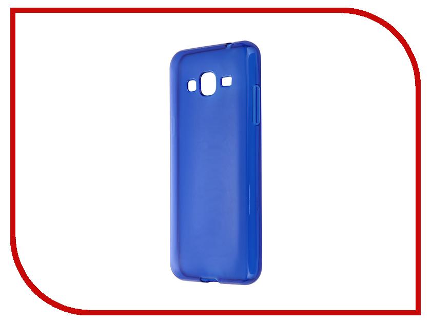 Аксессуар Чехол-накладка Gecko for Samsung Galaxy J3 J320 2016 силиконовый Transparent Blue S-G-SGJ3-2016-DBLU<br>