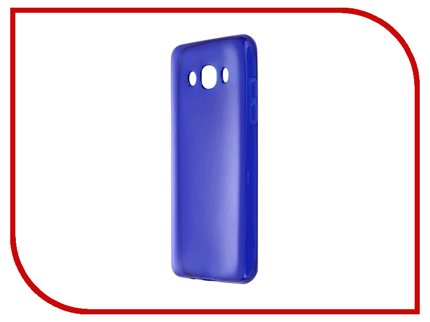 Аксессуар Чехол-накладка Gecko for Samsung Galaxy J5 J510F 2016 Gecko силиконовый Transparent Blue S-G-SGJ5-2016-DBLU newtons ultrathin pu leather flip open case w transparent window for samsung i9500 blue white