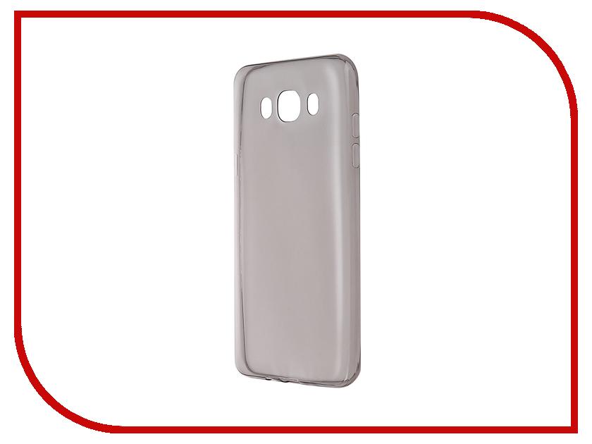 Аксессуар Чехол-накладка Gecko for Samsung Galaxy J7 J710F 2016 силиконовый Transparent Grey S-G-SGJ7-2016-BL стоимость
