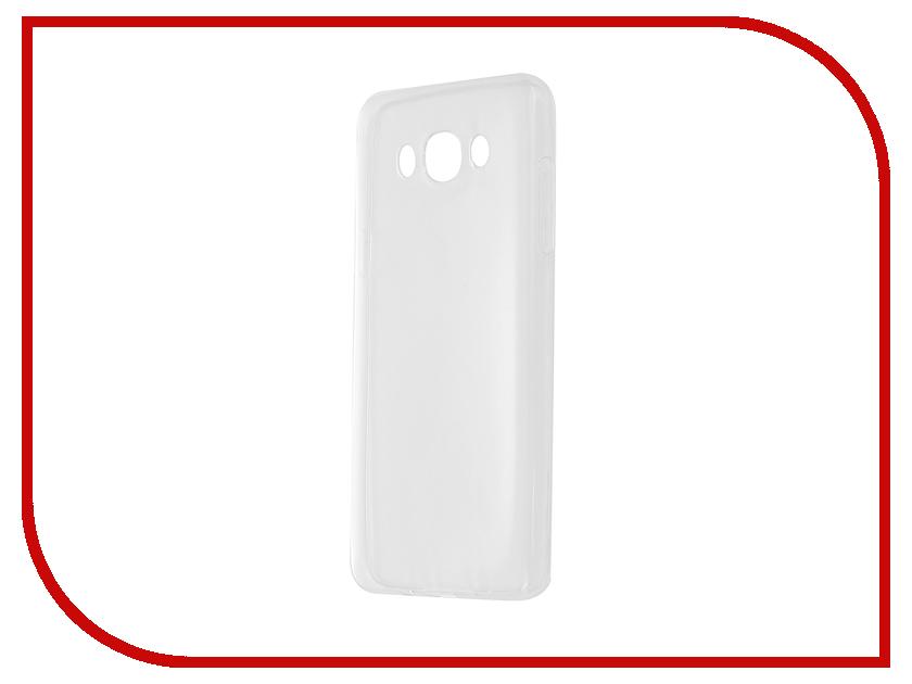 Аксессуар Чехол-накладка Gecko for Samsung Galaxy J7 J710F 2016 силиконовый Transparent White S-G-SGJ7-2016-WH чехол epik двухслойный ударопрочный с защитными бортами экрана verge для j710f galaxy j7 2016