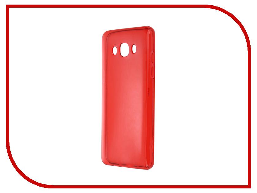 Аксессуар Чехол-накладка Gecko for Samsung Galaxy J5 J510F 2016 силиконовый Transparent Red S-G-SGJ5-2016-RED