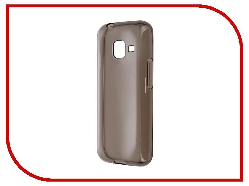 Аксессуар Чехол-накладка Gecko for Samsung Galaxy J1 mini J105H 2016 силиконовый Transparent Grey S-G-SGJ1mini-2016-BL