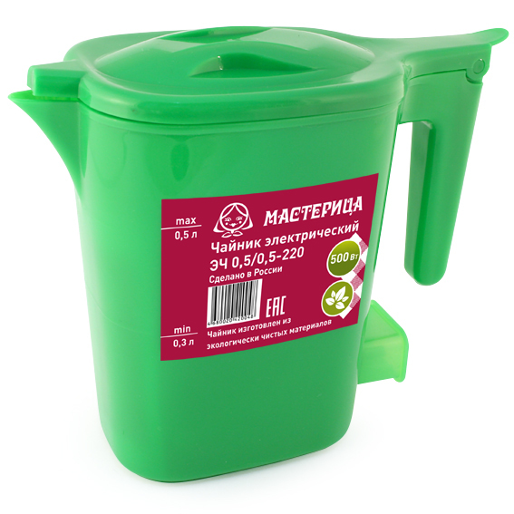 Чайник Мастерица ЭЧ 0.5/0.5-220З Green чайник мастерица эч 0 5 0 5 220з green