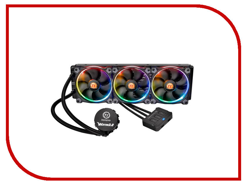 Водяное охлаждение Thermaltake Water 3.0 RGB 360 CL-W108-PL12SW-A thermaltake tr2 s 550w