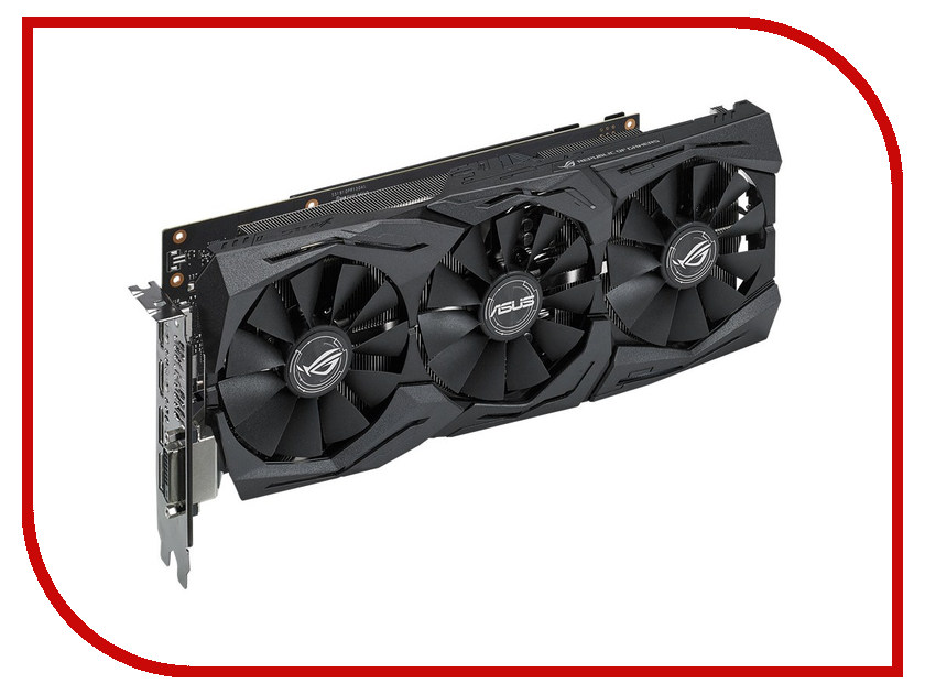 Видеокарта ASUS GeForce GTX 1060 1506Mhz PCI-E 3.0 6144Mb 8008Mhz 192-bit DVI 2xHDMI HDCP STRIX-GTX1060-6G-GAMING видеокарта asus geforce® gtx 1060 rog strix gtx1060 6g gaming 6гб gddr5 retail