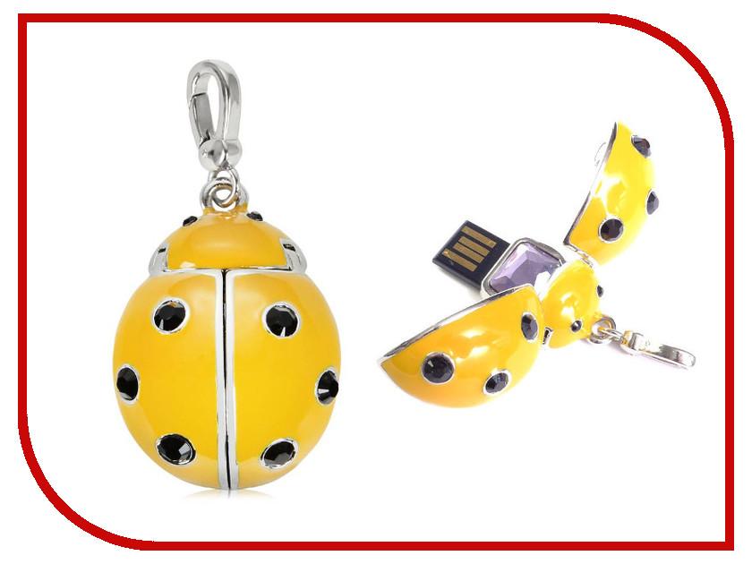 USB Flash Drive 8Gb - Qumo Charm Series Ladybird Yellow мышь qumo dragon war terra