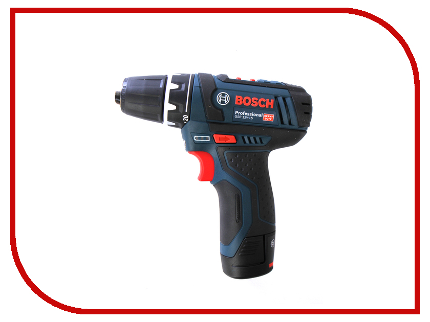 Электроинструмент Bosch GSR 12V-15 2.0Ah x2 Case 0601868122 электроинструмент bosch gsr 1080 2 li 1 5ah x2 case 06019e2020