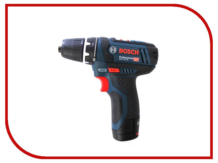 Электроинструмент Bosch GSR 12V-15 2.0Ah x2 Case 0601868122 электроинструмент bosch gsr 14 4 ve ec 4 0ah x2 l boxx 06019f1001