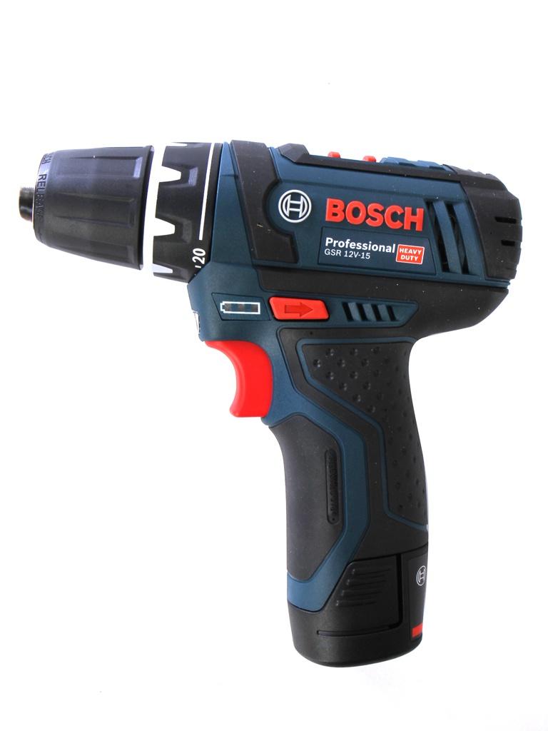 Электроинструмент Bosch GSR 12V-15 2.0Ah x2 Case 0601868122