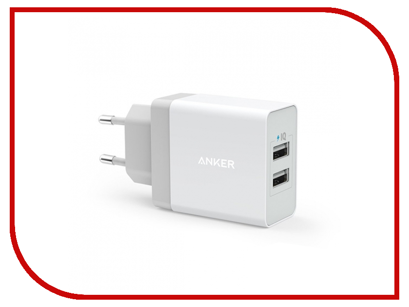 Зарядное устройство Anker 2xUSB 2.4A A2021321 White<br>
