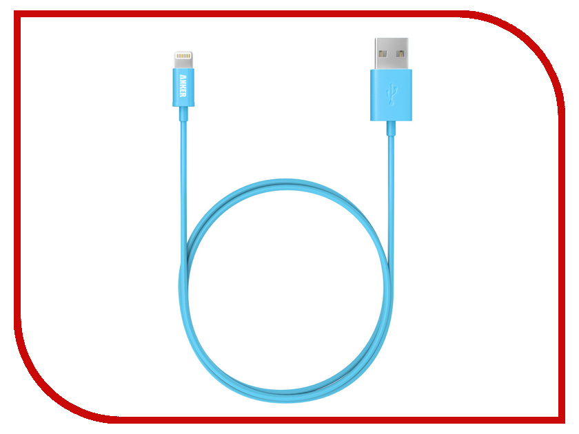 Аксессуар Anker USB - Lightning Apple MFi Certified 0.9m Soft Touch Blue 63ANMFILTN-3UA