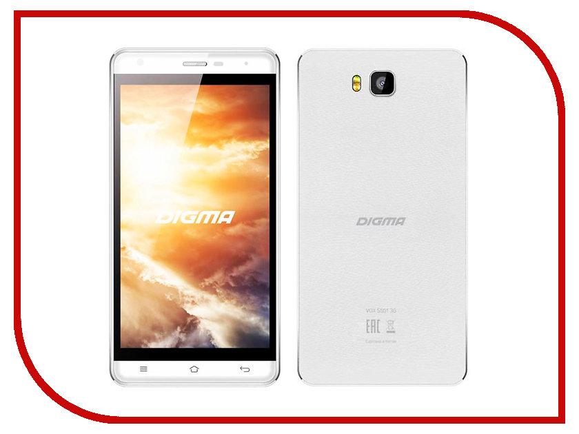 Сотовый телефон Digma VOX S501 3G White сотовый телефон digma vox s505 3g white