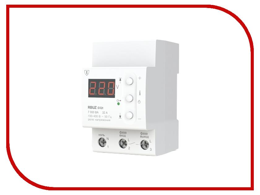 Реле контроля напряжения RBUZ / ZUBR D32t реле напряжения v protector 40a