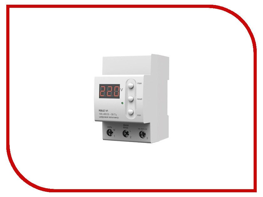 Реле контроля напряжения RBUZ / ZUBR V1 реле напряжения v protector 40a