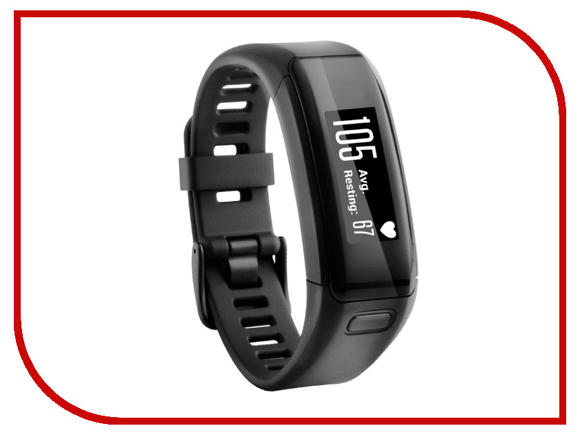 Умный браслет Garmin Vivosmart HR Black Regular 010-01955-12
