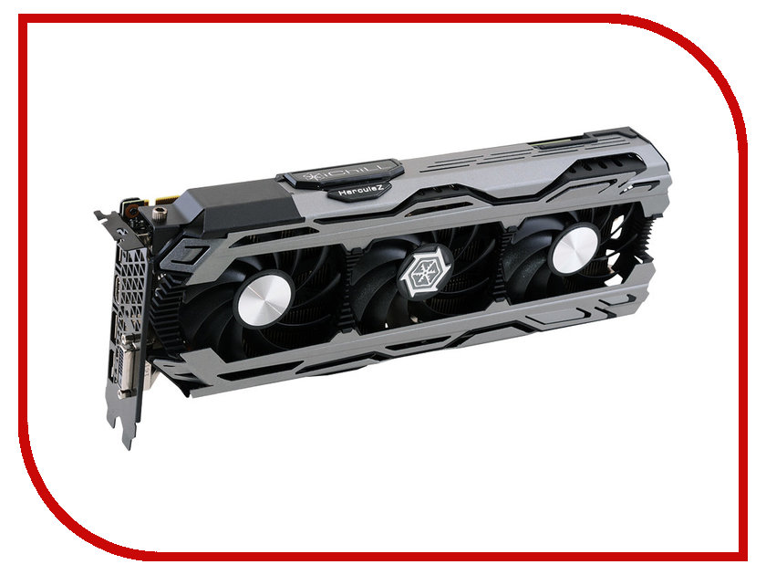 Видеокарта Inno3D iChill GeForce GTX 1080 1759Mhz PCI-E 3.0 8192Mb 10400Mhz 256 bit DVI HDMI HDCP C108V3-2SDN-P6DNX видеокарта 6144mb msi geforce gtx 1060 gaming x 6g pci e 192bit gddr5 dvi hdmi dp hdcp retail