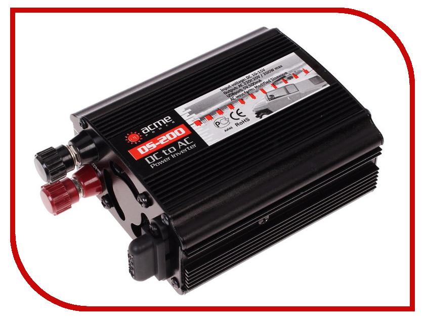 Автоинвертор AcmePower AP-DS200 (200Вт) с 12В на 220В