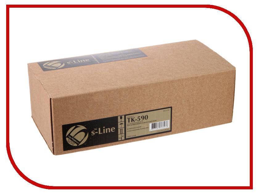Тонер S-Line TK-590Y для Kyocera FS-C5250/C2026MFP BAMTFSC525080