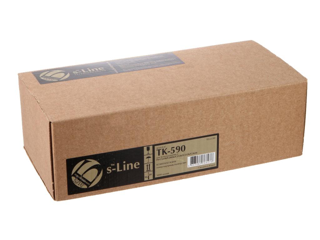 Картридж S-Line TK-590Y для Kyocera FS-C5250/C2026MFP BAMTFSC525080