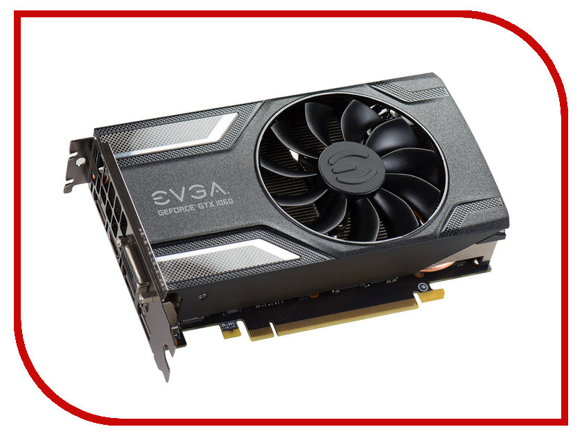 Видеокарта EVGA GeForce GTX 1060 1607Mhz PCI-E 3.0 6144Mb 8008Mhz 192 bit DVI HDMI HDCP 06G-P4-6163-KR<br>