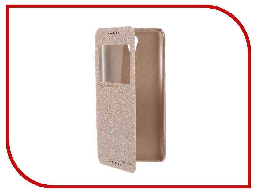 Аксессуар Чехол HTC Desire 620 Nillkin Sparkle Gold<br>