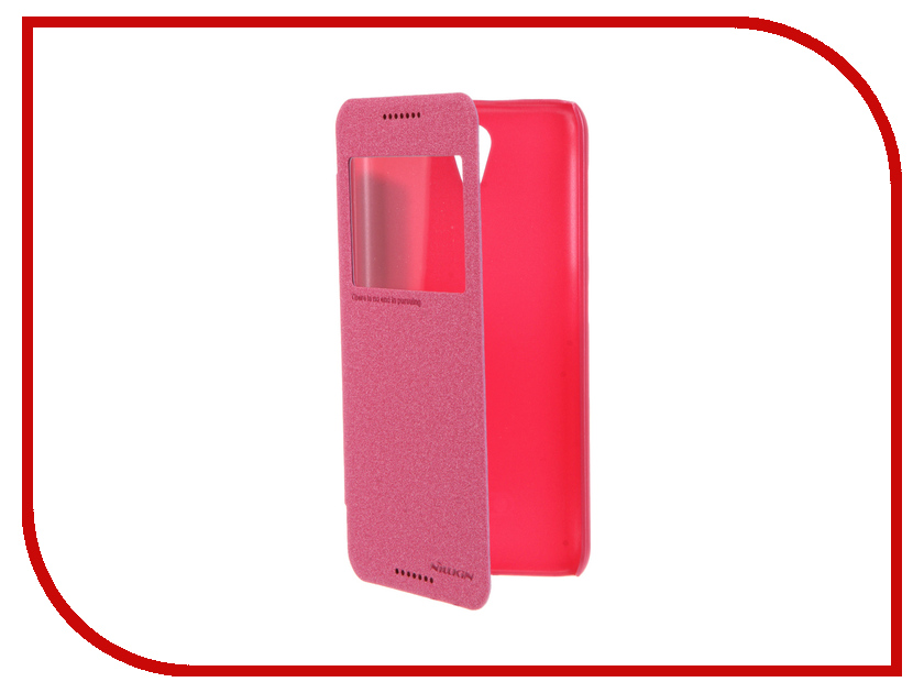 Аксессуар Чехол HTC Desire 620 Nillkin Sparkle Red<br>