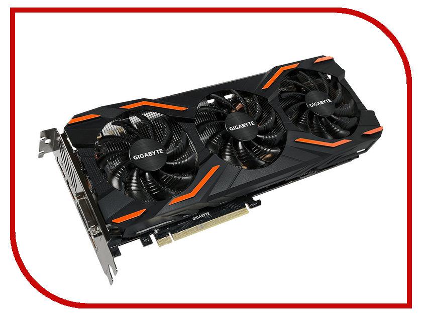 Видеокарта GigaByte GeForce GTX 1080 1632Mhz PCI-E 3.0 8192Mb 10010Mhz 256 bit DVI HDMI GV-N1080WF3OC-8GD<br>