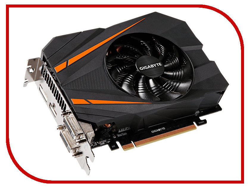 Видеокарта GigaByte GeForce GTX 1070 1556Mhz PCI-E 3.0 8192Mb 8008Mhz 256 bit 2xDVI HDMI HDCP GV-N1070IXOC-8GD видеокарта 6144mb msi geforce gtx 1060 gaming x 6g pci e 192bit gddr5 dvi hdmi dp hdcp retail