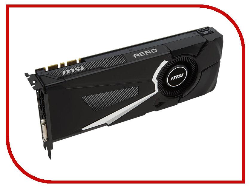 Видеокарта MSI GeForce GTX 1080 1632Mhz PCI-E 3.0 8192Mb 10010Mhz 256 bit DVI HDMI HDCP GTX 1080 AERO 8G OC