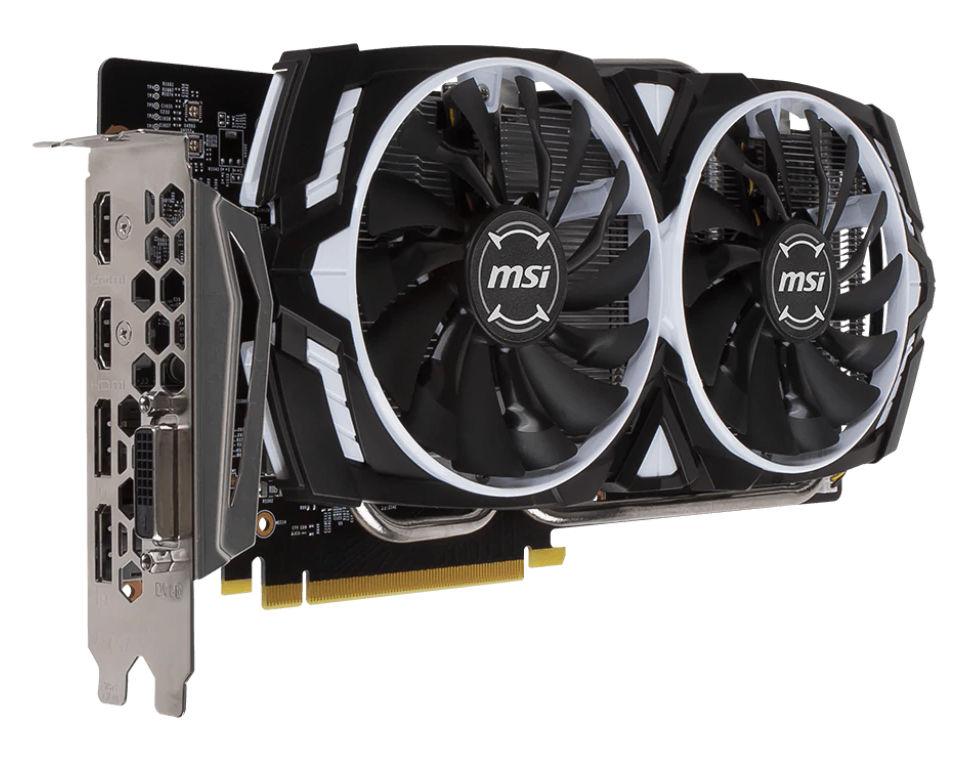 Видеокарта MSI GeForce GTX 1060 1544Mhz PCI-E 3.0 6144Mb 8000Mhz 192 bit DVI HDMI HDCP ARMOR OC 6G / OCV1