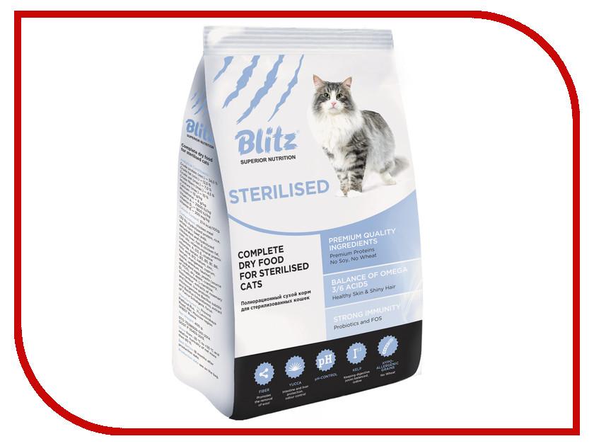 Корм Blitz Sterilized Cats 10kg для кошек 59646<br>