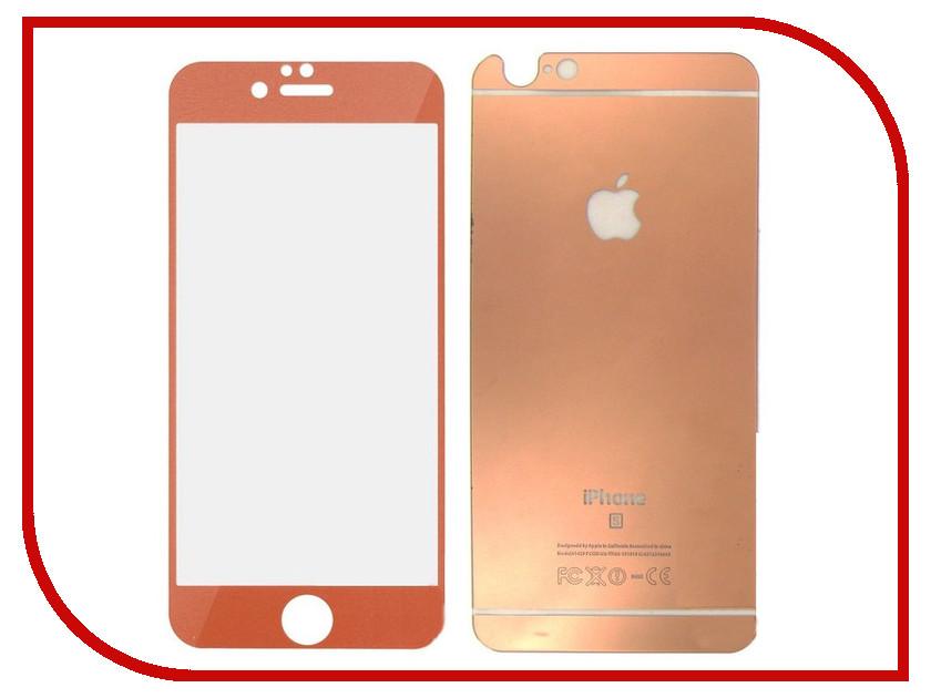 Аксессуар Защитное стекло Krutoff Front &amp; Back для iPhone 6/6S Rose Gold 21639<br>
