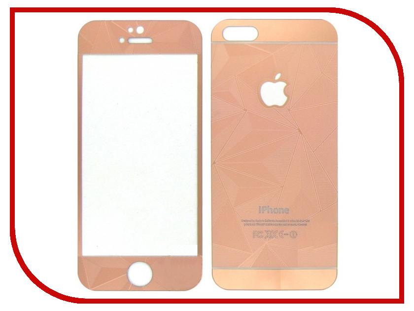 Аксессуар Защитное стекло Krutoff Front &amp; Back для iPhone 6/6S 3D Rose Gold 21663<br>