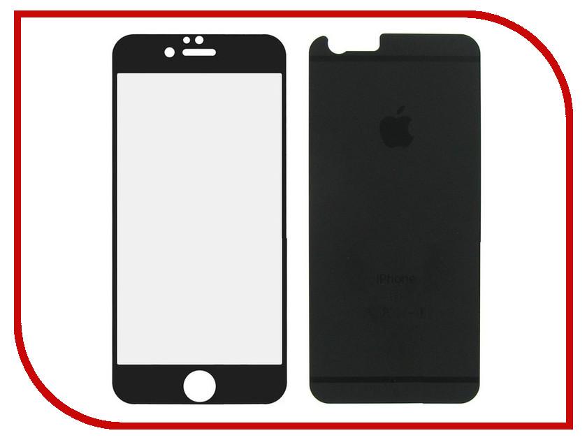 Аксессуар Защитное стекло Krutoff Front &amp; Back для iPhone 6/6S Frosted Black 21646<br>