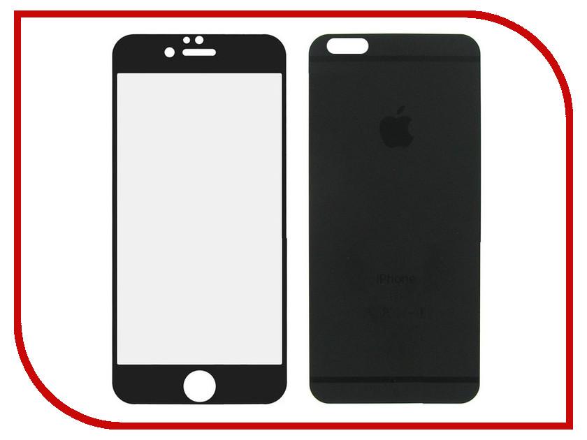 Аксессуар Защитное стекло Krutoff Front & Back для iPhone 5 / 5S / SE Frosted Black 21642
