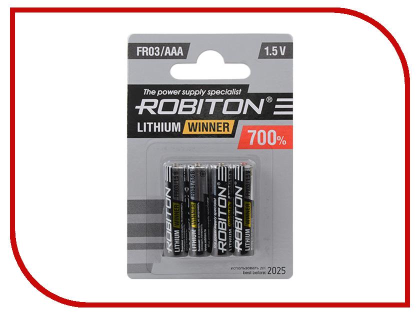 Батарейка AAA - Robiton Winner R-FR03-BL4 FR03 (4 штуки) 13688<br>