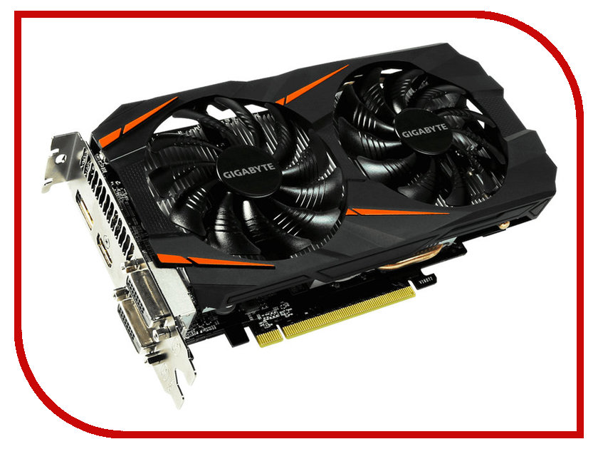 Видеокарта GigaByte GeForce GTX 1060 1556Mhz PCI-E 3.0 6144Mb 8008Mhz 192 bit DVI HDMI GV-N1060WF2OC-6GD<br>