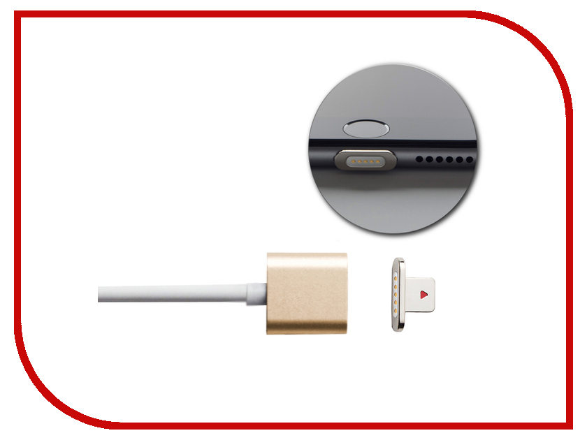 Аксессуар Moizen Magnetic Charging Cable 1.2m для iPhone Gold SNAP-C1A-1-GD<br>