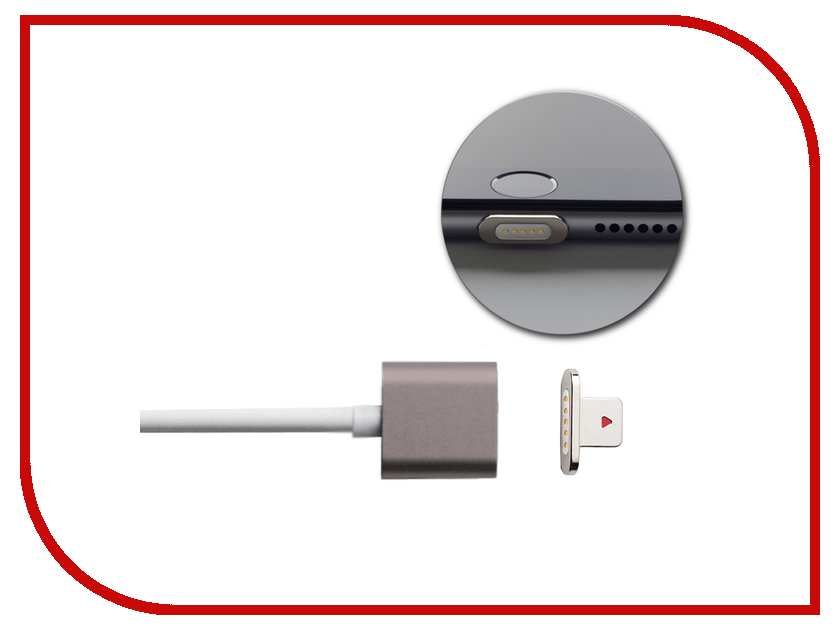Аксессуар Moizen Magnetic Charging Cable 1.2m для iPhone Space Gray SNAP-C1A-1-SG