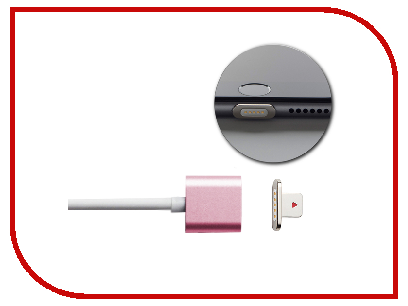 Аксессуар Moizen Magnetic Charging Cable 1.2m для iPhone Rose Gold SNAP-C1A-1-RG<br>