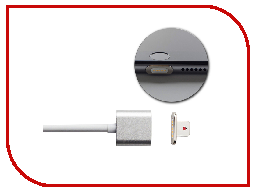 Аксессуар Moizen Magnetic Charging Cable 1.2m для iPhone Silver SNAP-C1A-1-SI