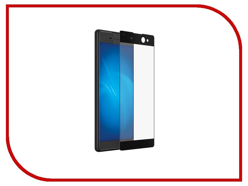 Аксессуар Закаленное стекло Sony Xperia XA DF xColor-02 Black<br>