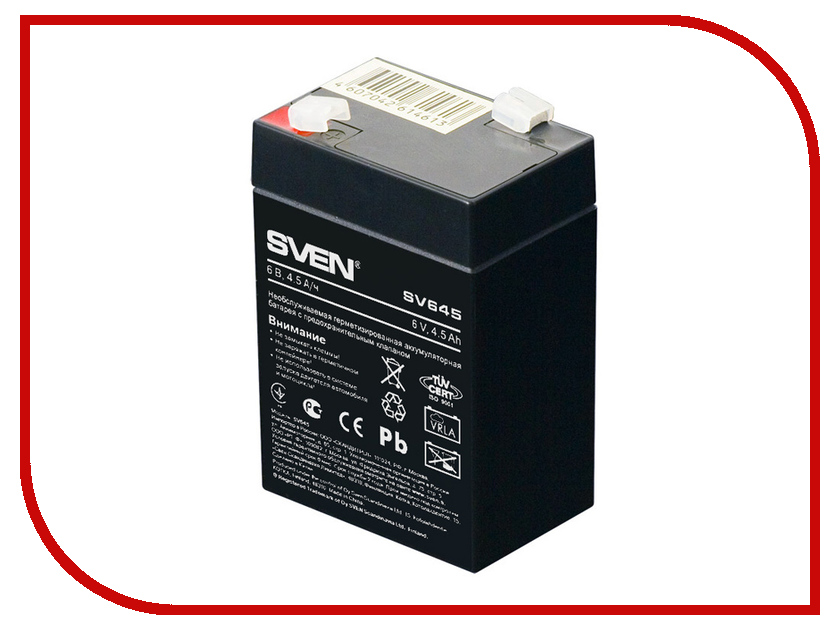 Аккумулятор для ИБП Sven SV645 SV-0222064 аккумуляторная батарея для ибп sven sv 12v7 2ah sv 012335