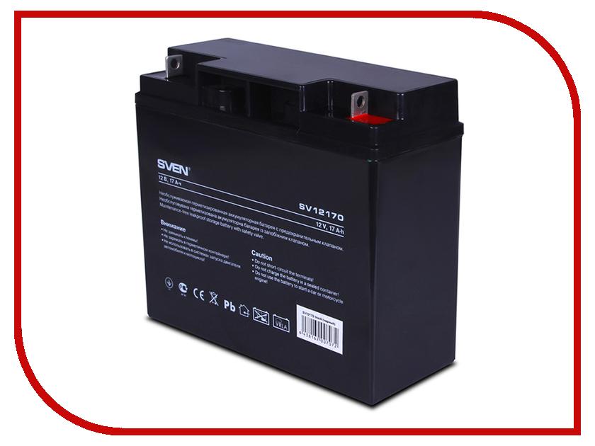 Аккумулятор для ИБП Sven SV 12V 17Ah SV12170 / SV-0222017 аккумуляторная батарея для ибп sven sv 12v7 2ah sv 012335