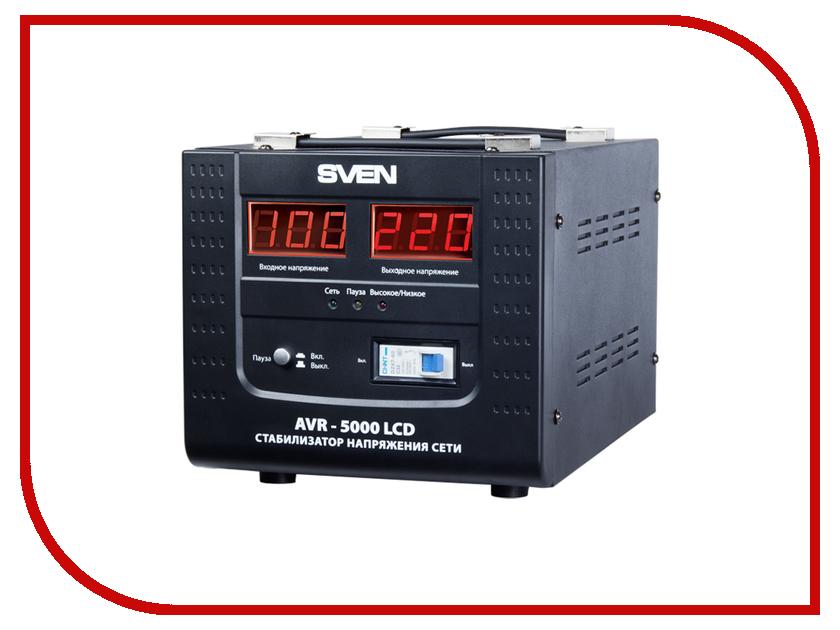 Стабилизатор Sven AVR-5000 LCD SV-AVR5000LCD