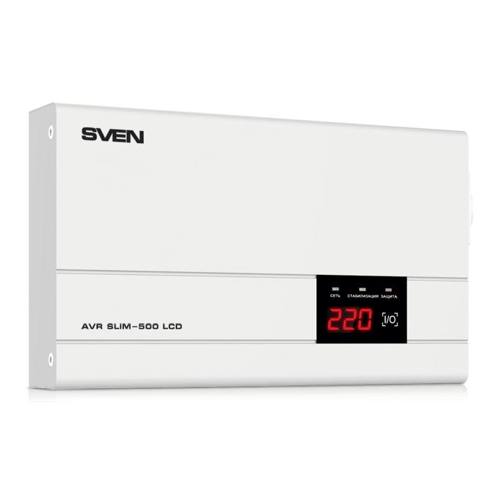 Стабилизатор Sven AVR SLIM 500 LCD SV-012809