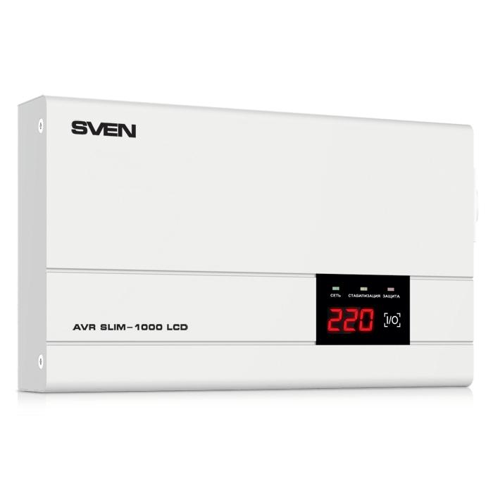 Стабилизатор Sven AVR SLIM 1000 LCD SV-012816