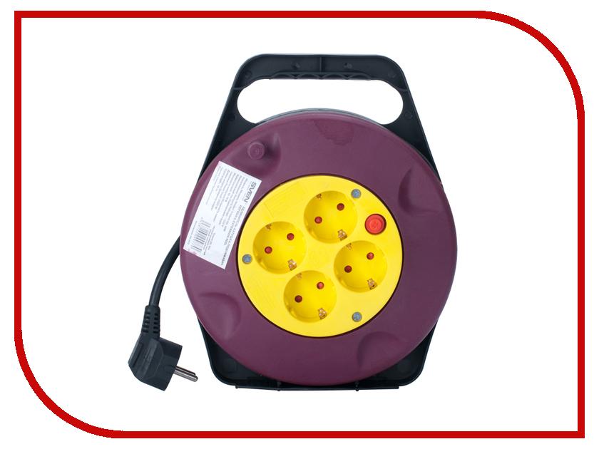 Удлинитель Sven Trident 3G 10m 4 Sockets Black-Red-Yellow