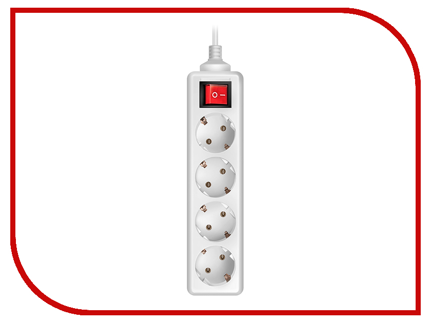 ������� ������ Sven Standard Pro 3G-4 5m 4 Sockets White SV-012939