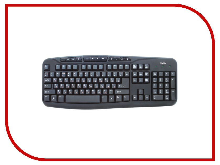 Клавиатура Sven Comfort 3050 Black USB SV-03103050UB<br>